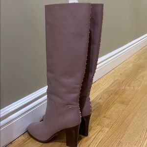 Mauve Valentino Boots with Gold Rockstuds
